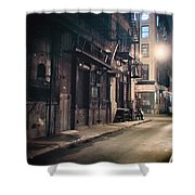 New York City Alley At Night Shower Curtain