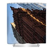New York City - An Angled View Of The Potter Building At Sunrise Shower Curtain