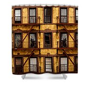 New York City Apartment Building Study Shower Curtain