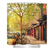New York City - Autumn In The East Village  Shower Curtain