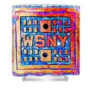 New York City Autumn Street Detail Pop Painting Shower Curtain