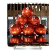 New York City Baubles Shower Curtain
