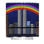 New York City Better Days 2 Shower Curtain by Andee Design