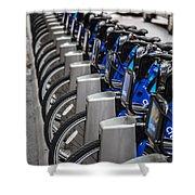 New York City Bikes Shower Curtain