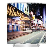 New York City - Broadway Lights And Times Square Shower Curtain