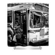 New York City Bus Shower Curtain
