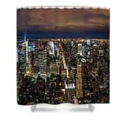 New York City By Night Shower Curtain