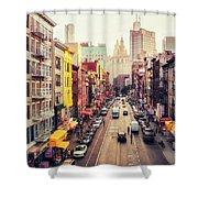 New York City - Chinatown Street Shower Curtain