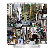 New York City Collage Shower Curtain
