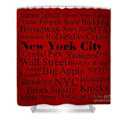 New York City Shower Curtain by Denyse and Laura Design Studio