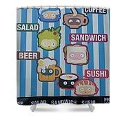 New York City Eatery Shower Curtain