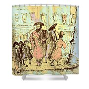 New York City Jews - Fine Art Shower Curtain