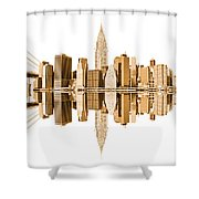 New York City Landmarks - Usa Shower Curtain