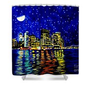 New York City Lower Manhattan Shower Curtain