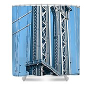New York City Manhattan Bridge And Skyline Shower Curtain