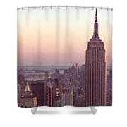 New York City - Manhattan Panorama Shower Curtain