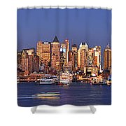 New York City Midtown Manhattan At Dusk Shower Curtain
