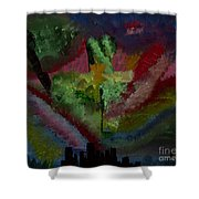 New York City Energy Shower Curtain