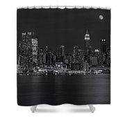 New York City Night Lights Shower Curtain