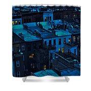 New York City Nightfall Shower Curtain