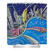 New York City Nights Shower Curtain