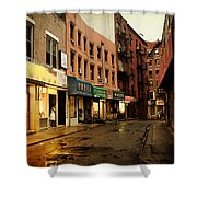 New York City - Rainy Afternoon - Doyers Street Shower Curtain by Vivienne Gucwa