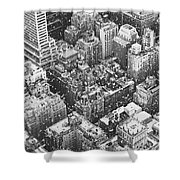 New York City - Skyline In The Snow Shower Curtain by Vivienne Gucwa