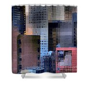 New York City Skyline No. 3 - City Blocks Series Shower Curtain