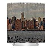 New York City Skyline Panoramic Shower Curtain