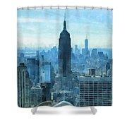 New York City Skyline Summer Day Shower Curtain