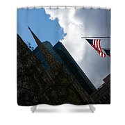 New York City Stars And Stripes Shower Curtain