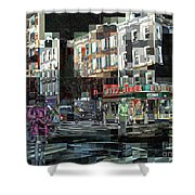 New York City Streets - Ritz Diner Shower Curtain