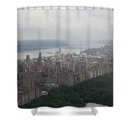 New York City Syline Draped In Clouds Shower Curtain