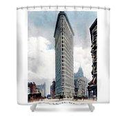 New York City - The Flatiron Building - Fifth Avenue - 1904 Shower Curtain