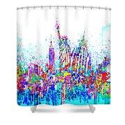 New York City Tribute 3 Shower Curtain