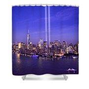 New York City Tribute In Lights World Trade Center Wtc Manhattan Nyc Shower Curtain