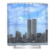 New York City Twin Towers Glory - 9/11 Shower Curtain
