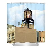 New York City Water Tower 4 - Urban Scenes Shower Curtain