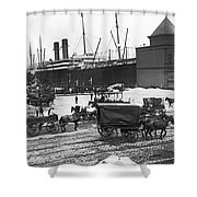 New York City Waterfront Shower Curtain