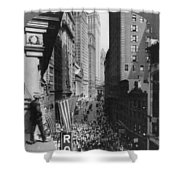 New York Curb Market, 1918 Shower Curtain