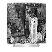 New York Financial District  Shower Curtain