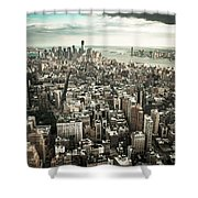 New York From Above - Vintage Shower Curtain