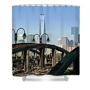 New York From New Jersey - Image 1633-01 Shower Curtain