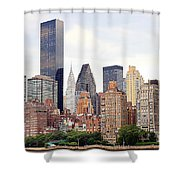 New York From Roosevelt Island Shower Curtain