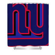 New York Giants Football Shower Curtain
