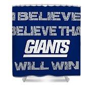 New York Giants I Believe Shower Curtain