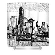 New York Harbor Shower Curtain