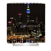 New York Honors Seattle Seahawks Shower Curtain