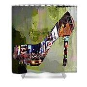 New York In A Shoe Shower Curtain