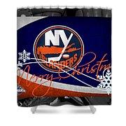 New York Islanders Christmas Shower Curtain